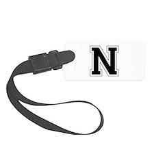 Collegiate Monogram N Luggage Tag