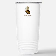 Dog Pope Red Dachsund with pontiff hat Travel Mug