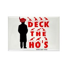 Deck the Ho's Rectangle Magnet