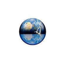 Solar power satellite, artwork - Mini Button