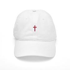 Pretty red christian cross 4 U L Baseball Baseball Cap