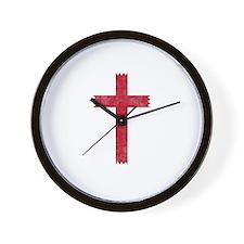 Pretty red christian cross 4 U L Wall Clock
