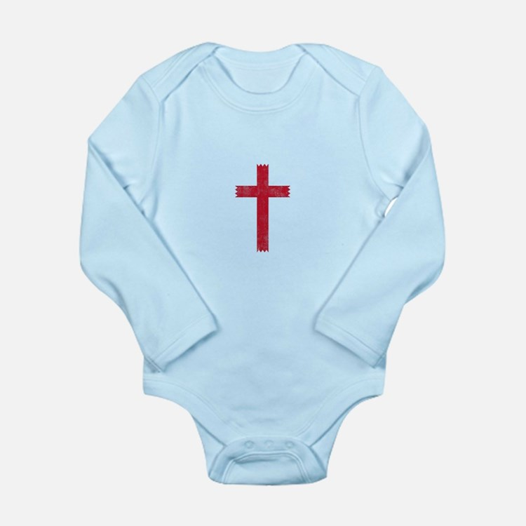 Pretty red christian cross 4 U L Body Suit