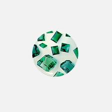 Emerald gemstones - Mini Button