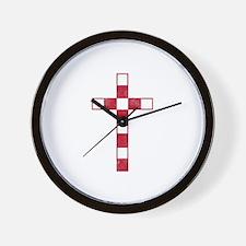 Pretty red christian cross 4 U M Wall Clock