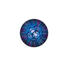 Buckyball molecule, artwork - Mini Button