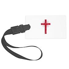 Pretty red christian cross 4 U P Luggage Tag