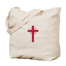 Pretty red christian cross 4 U P Tote Bag