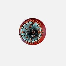 Influenza virus particle - Mini Button