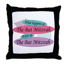 Happens At The Bat Mitzvah Throw Pillow