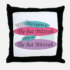 Happens At The Bat Mitzvah Throw Pillow