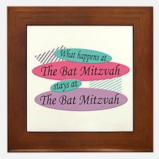 Happens At The Bat Mitzvah Framed Tile