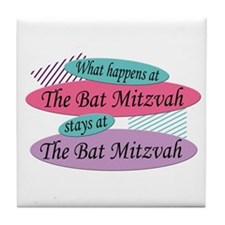 Happens At The Bat Mitzvah Tile Coaster