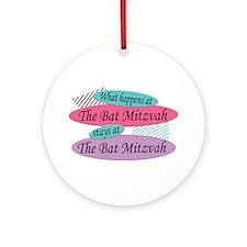 Happens At The Bat Mitzvah Ornament (Round)