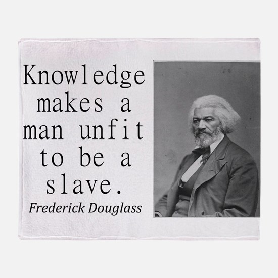 Knowledge Makes A Man Throw Blanket