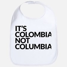 Colombia Not Columbia Bib