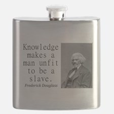 Knowledge Makes A Man Flask