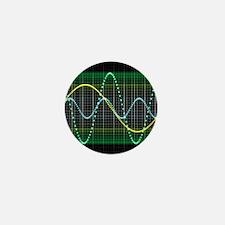 Sound wave, computer artwork - Mini Button
