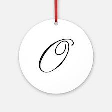 Champagne Monogram O Ornament (Round)