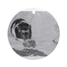 MILO AT THE BEACH Ornament (Round)