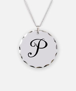 A Yummy Apology Monogram P Necklace