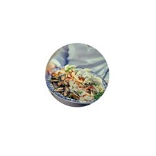 Seafood plate - Mini Button