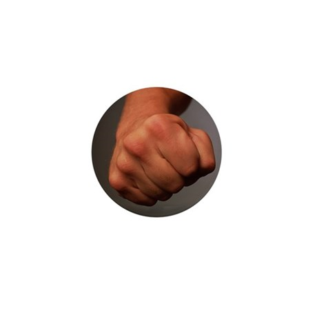 Clenched fist - Mini Button