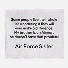 AF Sister No Prob Bro Throw Blanket
