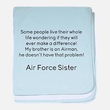 AF Sister No Prob Bro baby blanket