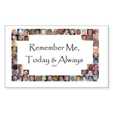 Remember Me Rectangle Decal