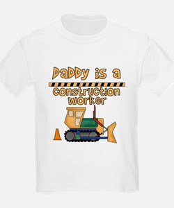 Daddy is a Construction Worker Kids T-Shirt