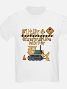 Future Construction Worker Kids T-Shirt