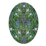 Flowery Meadow Oval Ornament