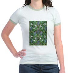 Flowery Meadow Jr. Ringer T-Shirt