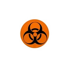 Biohazard sign - Mini Button