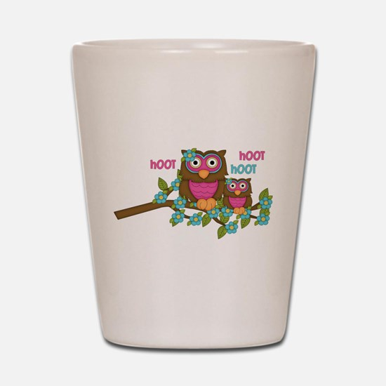 Hoot Owls Shot Glass