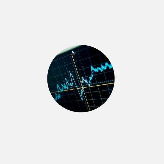 Oscilloscope trace - Mini Button