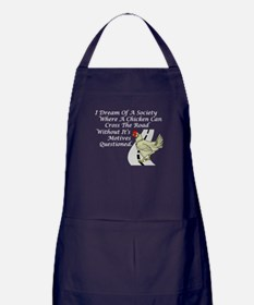 Chicken Crossing The Road Apron (dark)