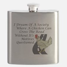 Chicken Crossing The Road Flask