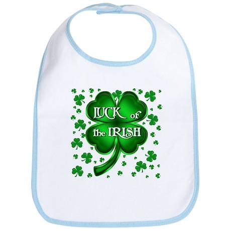 Luck of the Irish with shamrocks Bib