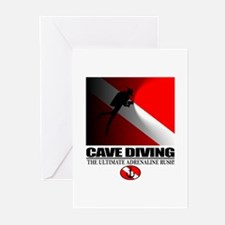 Cave Diving Greeting Cards (Pk of 10)