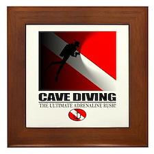 Cave Diving Framed Tile