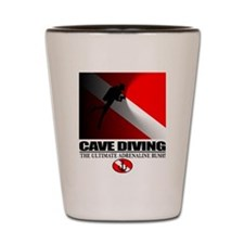 Cave Diving Shot Glass