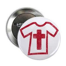 "Pretty red christian cross 5 U G 2.25"" Button"