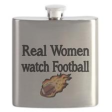 Real Women Watch Football Flask