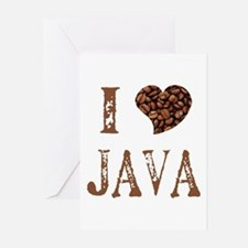 I (heart) JAVA Greeting Cards (Pk of 10)