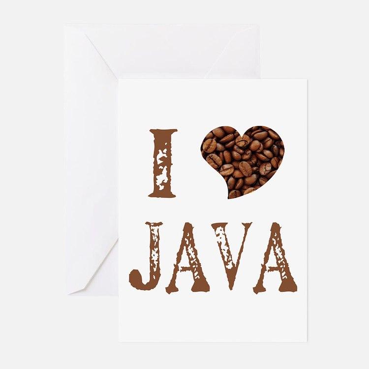 I (heart) JAVA Greeting Cards (Pk of 10)