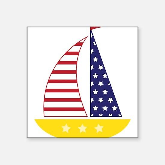 All American Sailboat Sticker