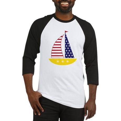 All American Sailboat Baseball Jersey