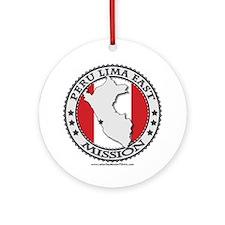 Peru Lima East LDS Mission Flag Cutout Map 1 Ornam